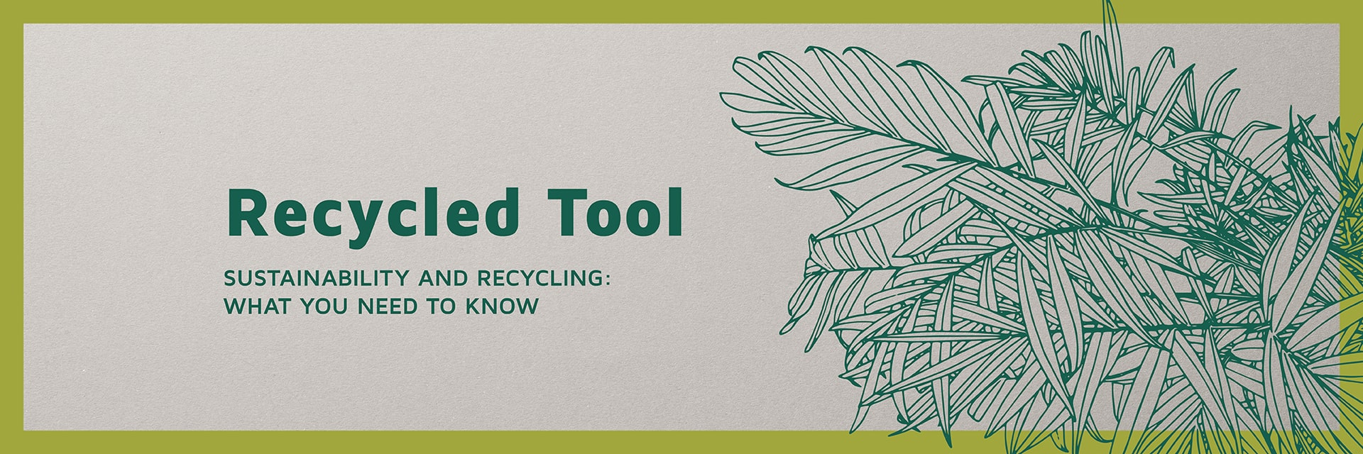 Banner Hp recycled tool english